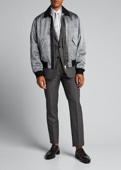 Men's Scritto Metallic Bomber Jacket