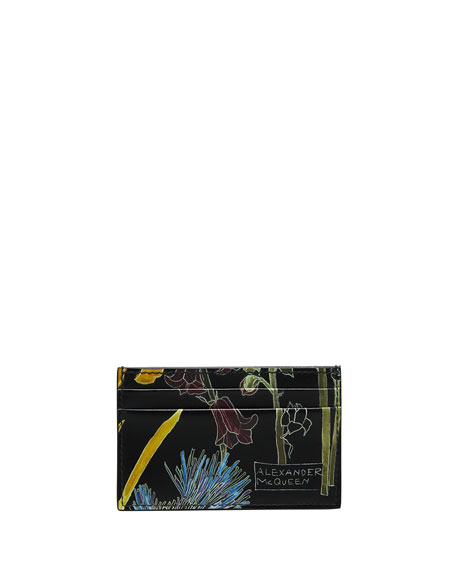 Image 1 of 1: Men's Floral Nylon Card Holder
