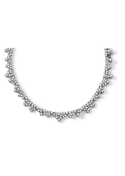 Confetti Necklace in 18K White Gold & White Diamonds  10.99 carats