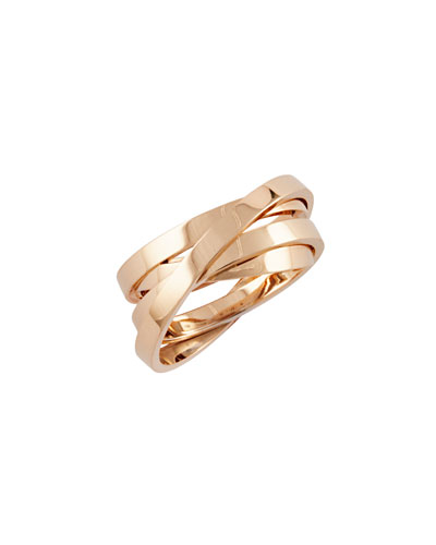 Berbère Technical Ring in 18K Rose Gold