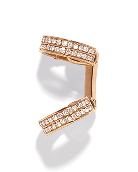 Berbere Small Pave Single Diamond Ear Cuffs in 18K Gold