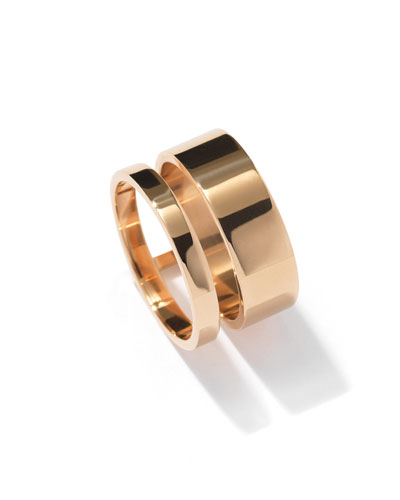 Berbere Two-Row Band Ring in 18K Gold