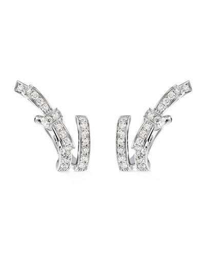 Ruban Couture Earrings with Diamonds