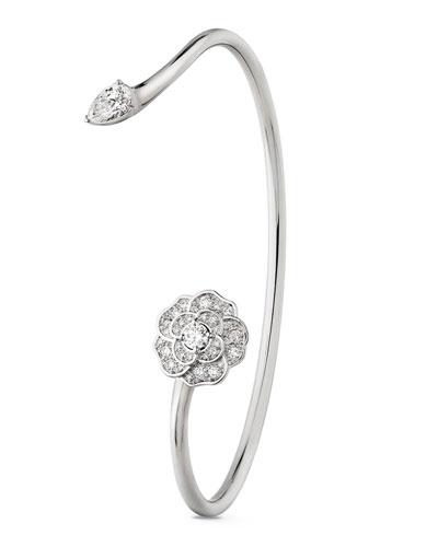 CAMELIA PRECIEUX Open Bracelet in 18K White Gold and Diamonds