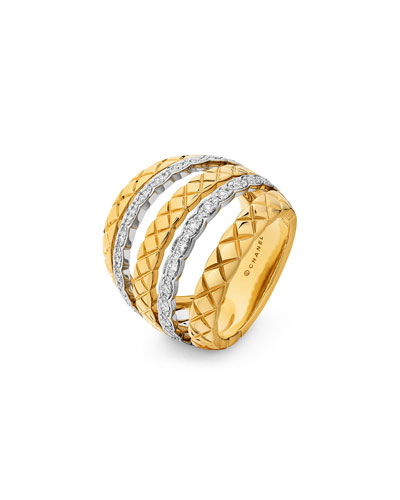COCO CRUSH RING IN 18K GOLD AND DIAMONDS
