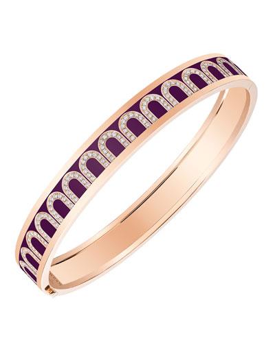 L'Arc de Davidor 18k Rose Gold Arcade Diamond Bangle - Med. Model  Aubergine