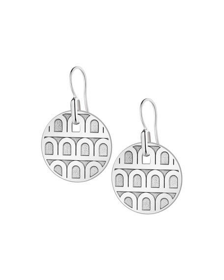 Image 1 of 1: L'Arc de Davidor 18k White Gold Drop Earrings - Petite Model
