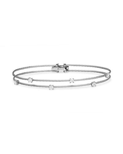 18k White Gold Six-Diamond Bracelet  0.36 TCW