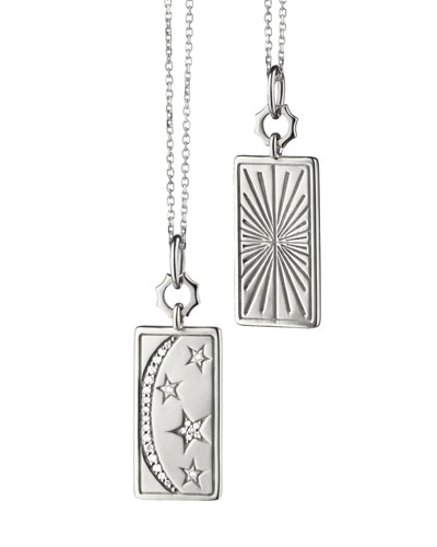 Sterling Silver My Sun Moon Stars Charm Necklace