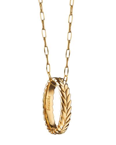 Breathe Leaf Poesy Ring Necklace