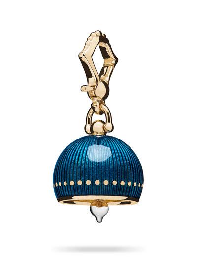 #3 Teal Enamel Meditation Bell Charm