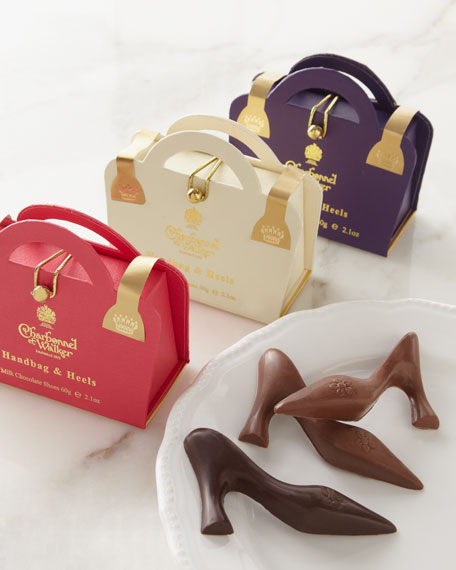 "Three ""Handbag & Heels"" Chocolates"
