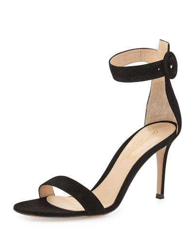 Suede Ankle-Strap Simple Sandal