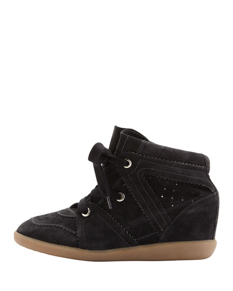 Bobby Low-Rise Wedge Sneaker, Anthracite
