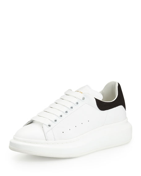 alexander mcqueen leather low top sneaker white 4 X 4 Post to 6 X 6 Post