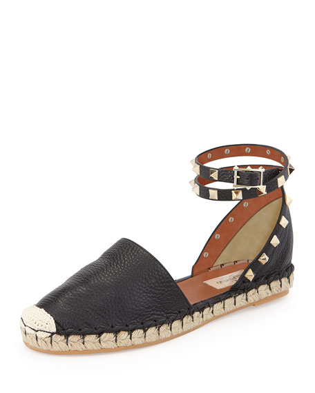 clearance real Red Valentino studded ankle strap espadrilles free shipping reliable lLSPWuYP