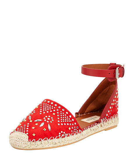 high quality cheap price largest supplier for sale Valentino Teodora Studded Espadrilles prices for sale i6aVYrY
