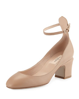 Tango Napa Leather Pump, Taupe