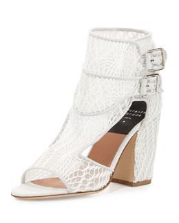 Rush Macrame Mesh Sandal, White