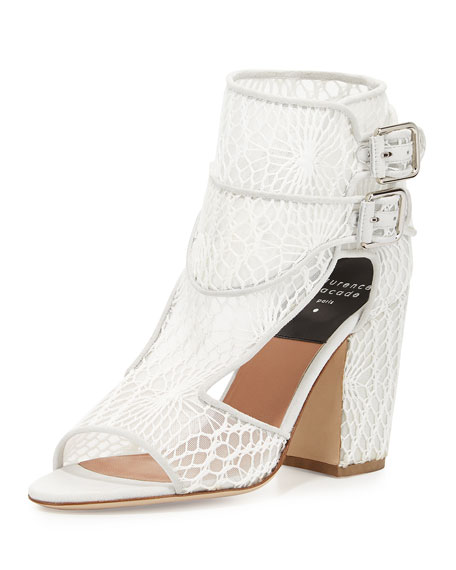 side buckle sandals - White Laurence Dacade