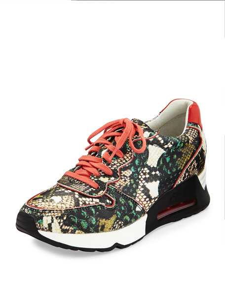 Love Lace-Print Trainer, Pink