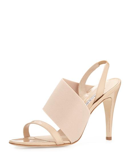 a10e2bec06d Manolo Blahnik Petto Patent Crossover Sandal