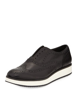 Meji Leather Brogue Creeper