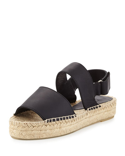 Emilia Platform Espadrille Sandal, Black