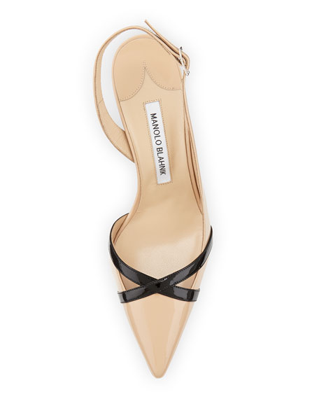Scoppa Patent Crisscross Slingback, Neutral