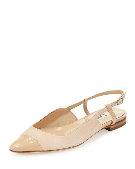 pay with paypal sale online sale browse Manolo Blahnik Suede Cap-Toe Flats Rt1xQA