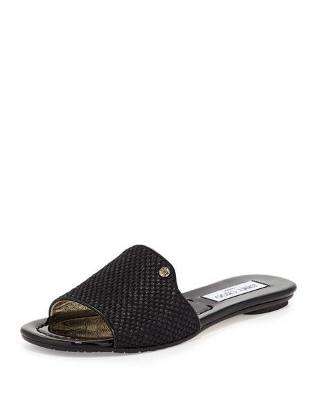 3d9acb515ce Jimmy Choo Nanda Woven Sandal Slide, Black