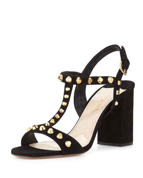 Prada Studded T-Strap Sandals outlet popular discount visit clearance best place wholesale price for sale px0tEmolJn