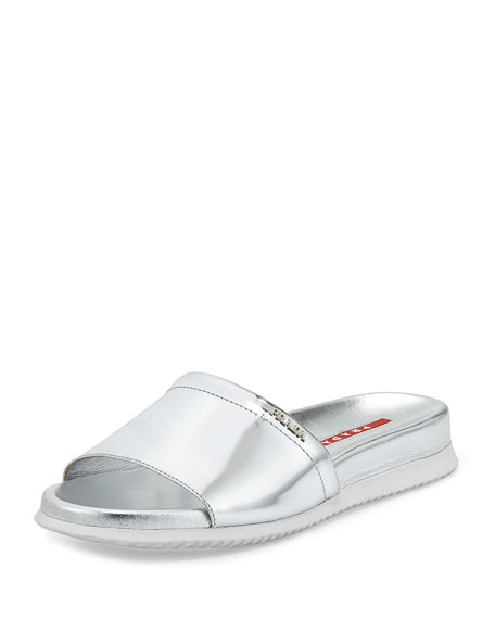 Sandal Band Silver Metallic Sport Single tsrCQhd