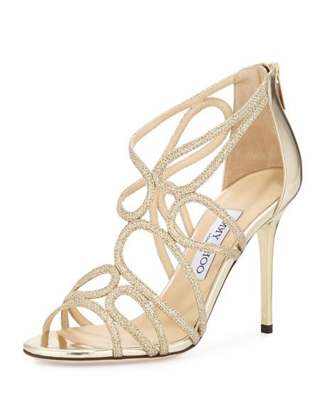 9fa1a57a7c9 Jimmy Choo Layla Glittered Strappy Sandal