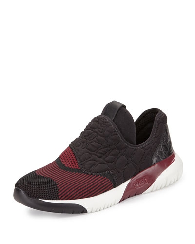 Soda Quilted Neoprene Sneaker, Bordeaux