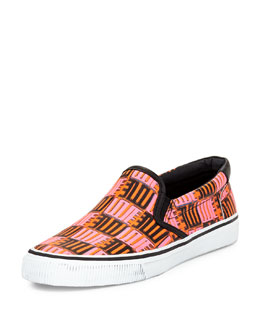 Love-Print Leather Skate Shoe