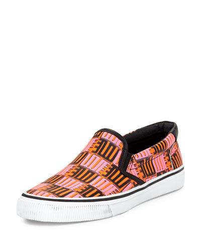 Love-Print Leather Skate Shoe