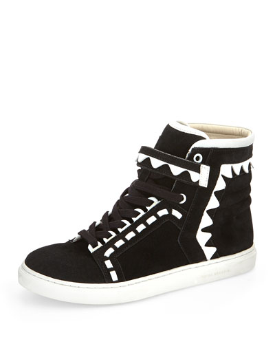 Riko Contrast Zigzag High-Top Sneaker