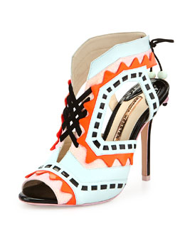 Riko Colorblock Ankle-Wrap Sandal