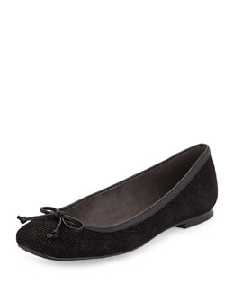 Shoestring Bow-Detailed Ballerina Flat