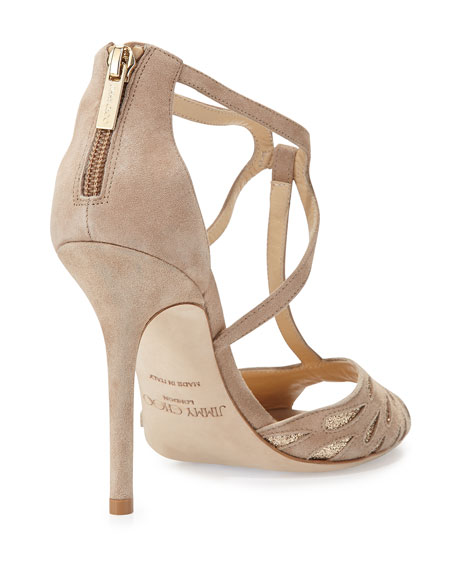 0bf92735e63d Jimmy Choo Dida Suede T-Strap Sandal
