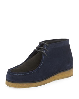 Two-Tone Suede Wallabee Boot