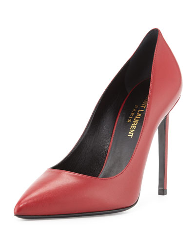 Paris Leather Point-Toe Pump