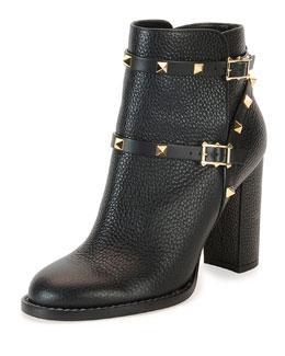 Rockstud Chunky-Heel Boot