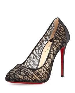 Dorissima Lace Red Sole Pump