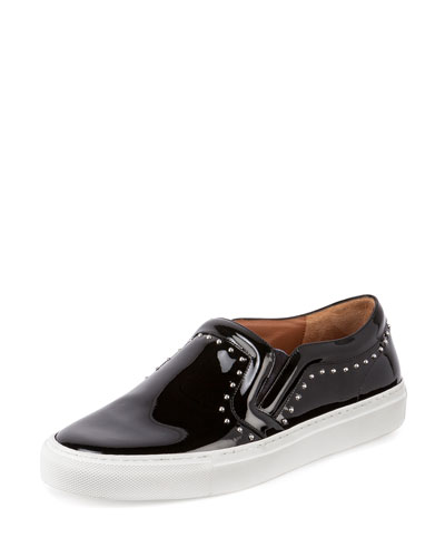 Studded Patent Leather Skate Shoe
