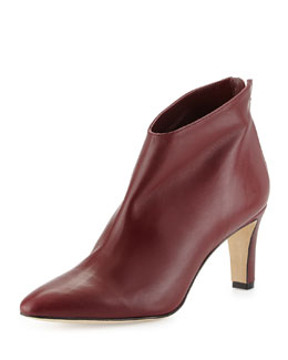 Macas Almond-Toe Ankle Boot, Bordeaux