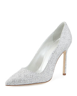 BB Snowflake Glitter Point-Toe Pump