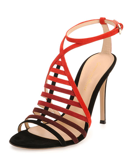 Suede Ombre Caged Sandal